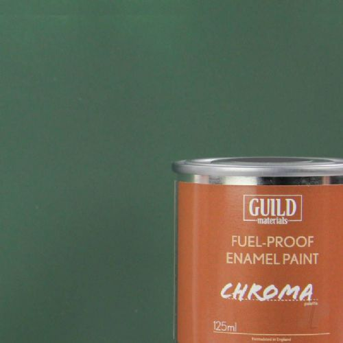 Guild Materials Matt Dark Green Enamel Fuel-Proof Paint  (125ml Tin) GLDCHR6312